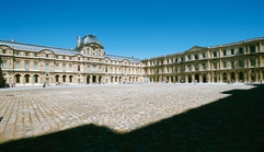 Square Courtyard of the Louvre Museum